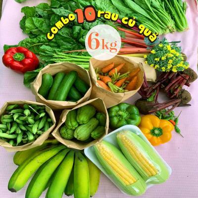 Combo 10 món rau củ quả hữu cơ Đà Lạt (6kg)